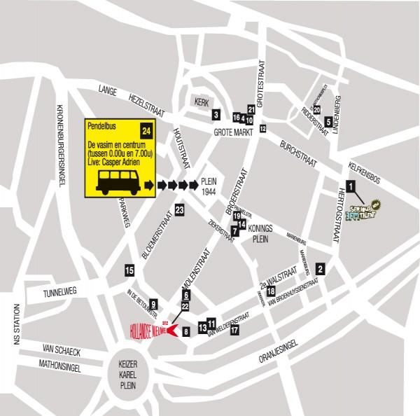 Map Nijmegen