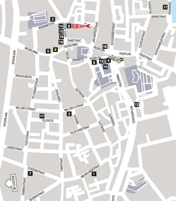 Map Tilburg