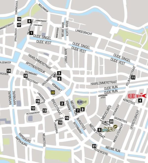 Map Leiden