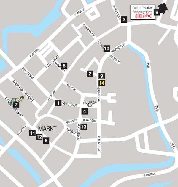 Map Wageningen